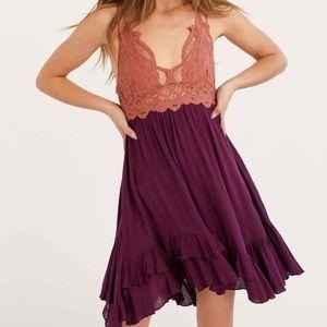 "Free People ""Adella"" Bralette Slip Mini Dress S"
